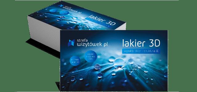 Wizytówka Lakier 3D
