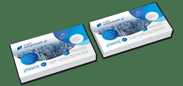 Wizytówka Plastic 0,5