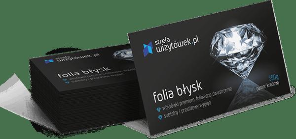 Wizytówka Folia Błysk