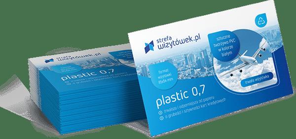 Wizytówka Plastic 0,7 Lakier UV